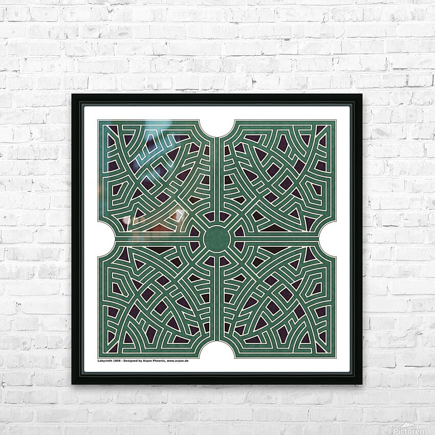 Labyrinth 1808 HD Sublimation Metal print with Decorating Float Frame (BOX)