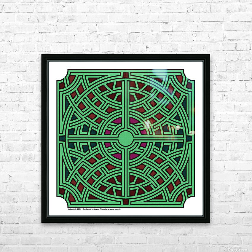 Labyrinth 1804 HD Sublimation Metal print with Decorating Float Frame (BOX)