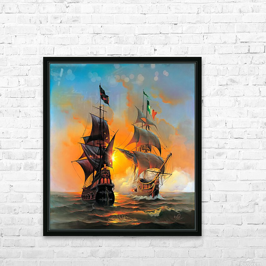 Marauders of the Sea HD Sublimation Metal print with Decorating Float Frame (BOX)