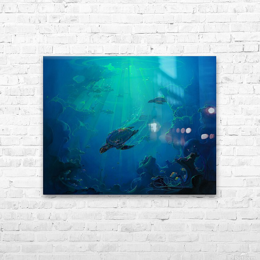 Turtle Canyon HD Sublimation Metal print with Decorating Float Frame (BOX)
