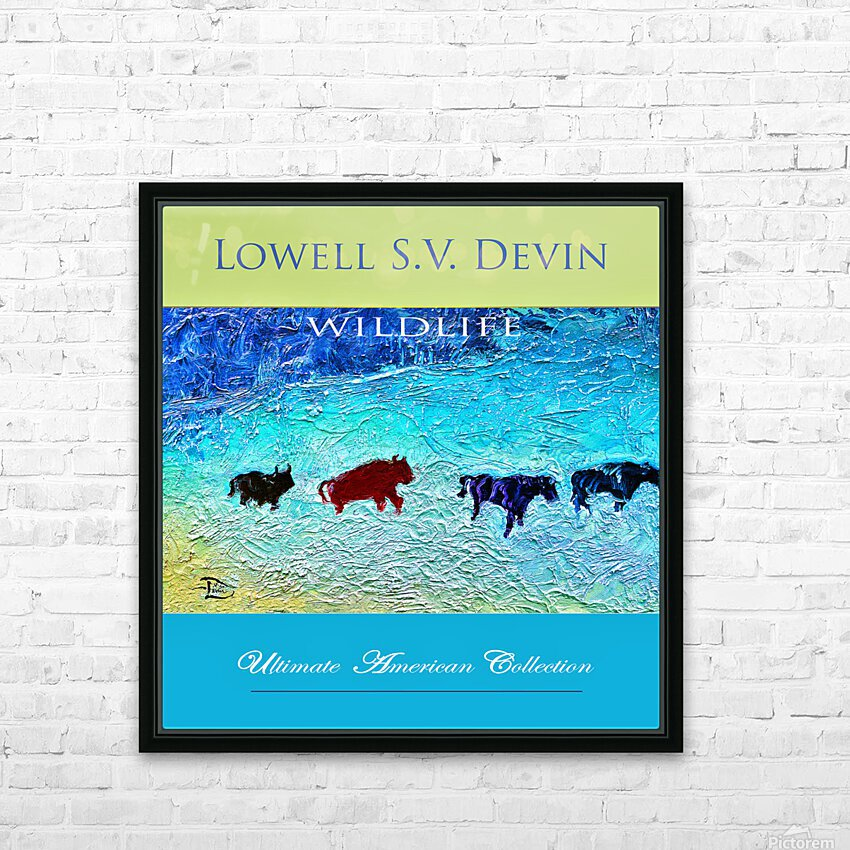 Devin Wildlife UAC Show Poster HD Sublimation Metal print with Decorating Float Frame (BOX)