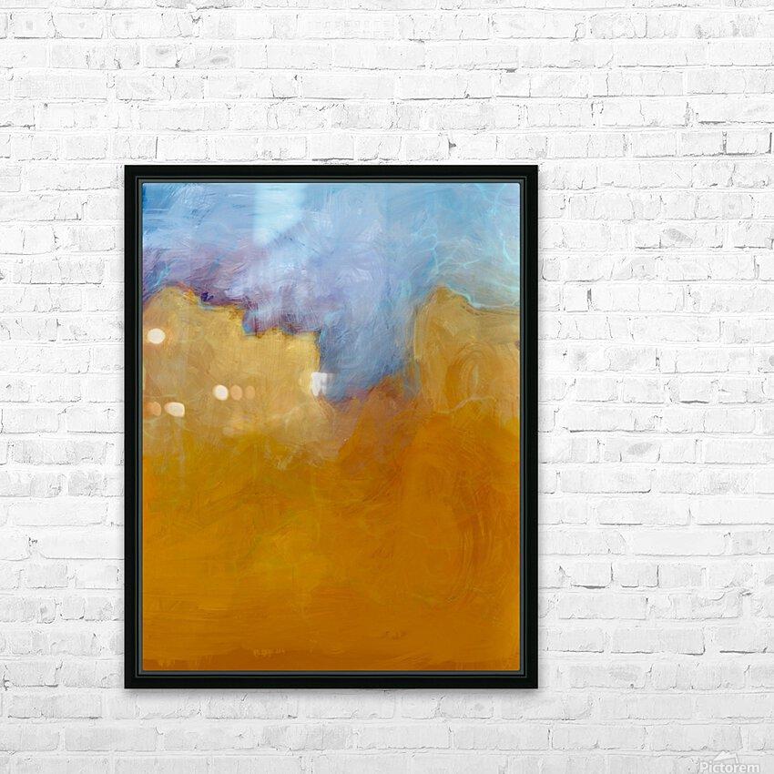 Big Orange Cloud HD Sublimation Metal print with Decorating Float Frame (BOX)