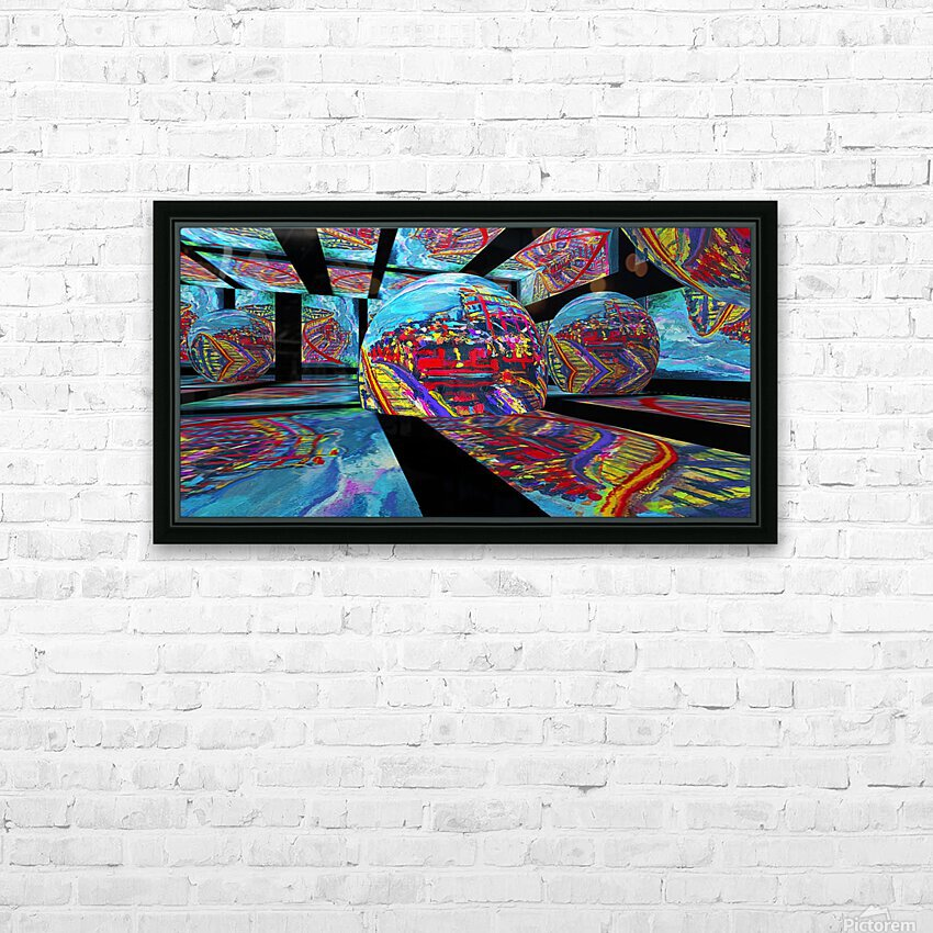 EXTREME Roller Coaster RoomXpander tm Tracking Art HD Sublimation Metal print with Decorating Float Frame (BOX)