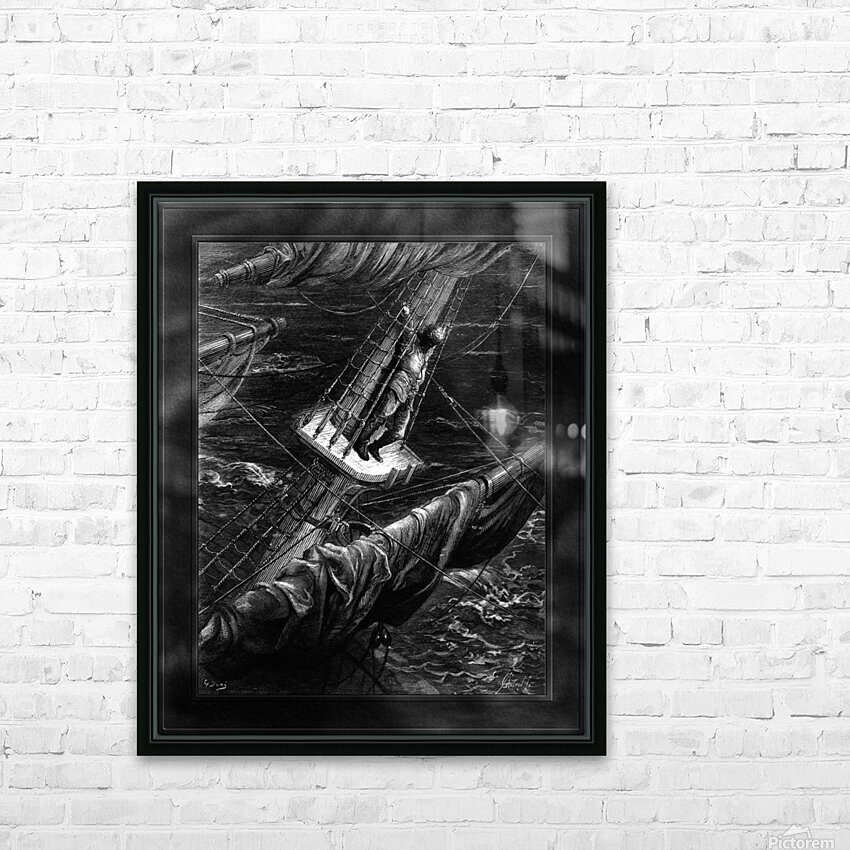 I Had Done a Hellish Thing by Gustave Dore Classical Fine Art Xzendor7 Old Masters Reproductions HD Sublimation Metal print with Decorating Float Frame (BOX)