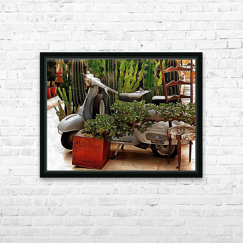 Vespa As Part Of Succulent Display HD Sublimation Metal print with Decorating Float Frame (BOX)
