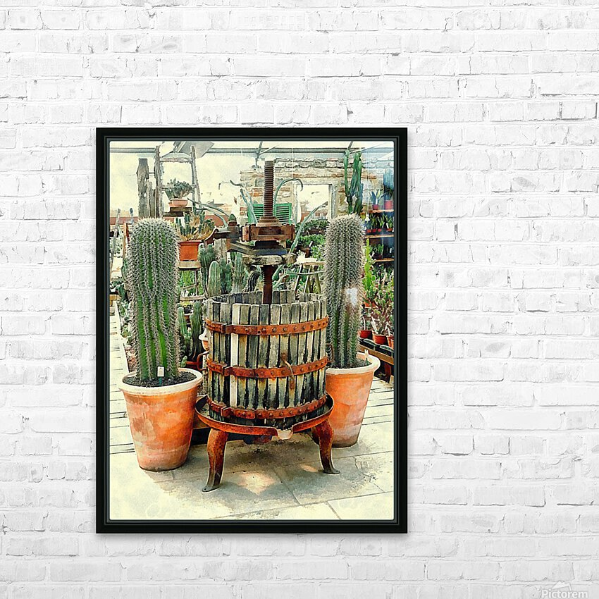 Old Wine Press Used in Succulent Display HD Sublimation Metal print with Decorating Float Frame (BOX)