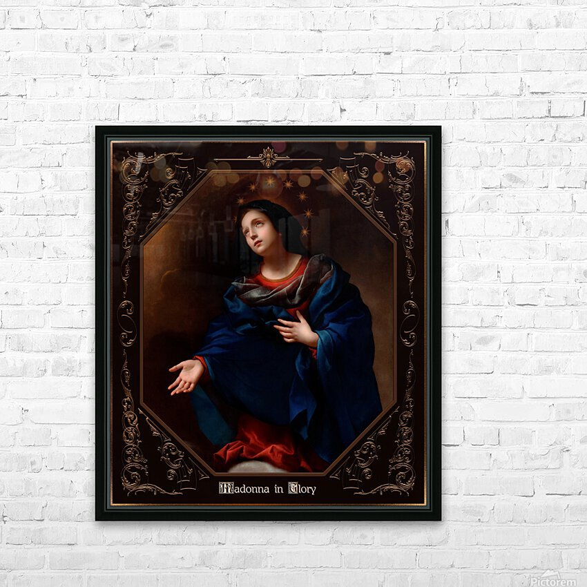 Madonna in Glory by Carlo Dolci Classical Art Xzendor7 Old Masters Reproductions HD Sublimation Metal print with Decorating Float Frame (BOX)