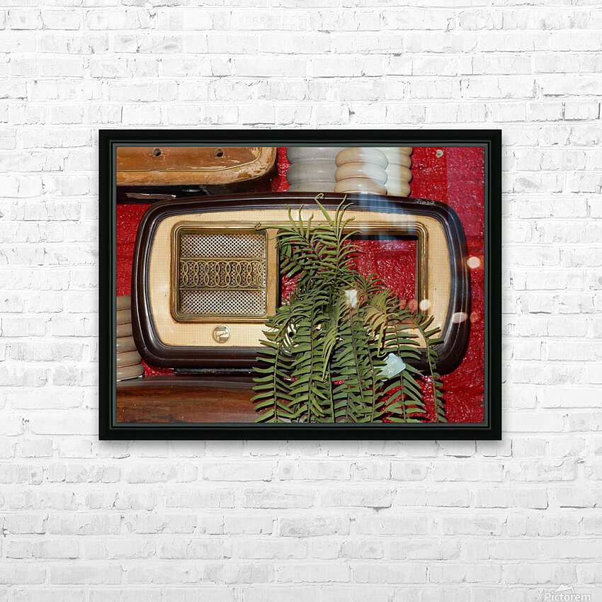 Old Radio Used For Succulent Display HD Sublimation Metal print with Decorating Float Frame (BOX)