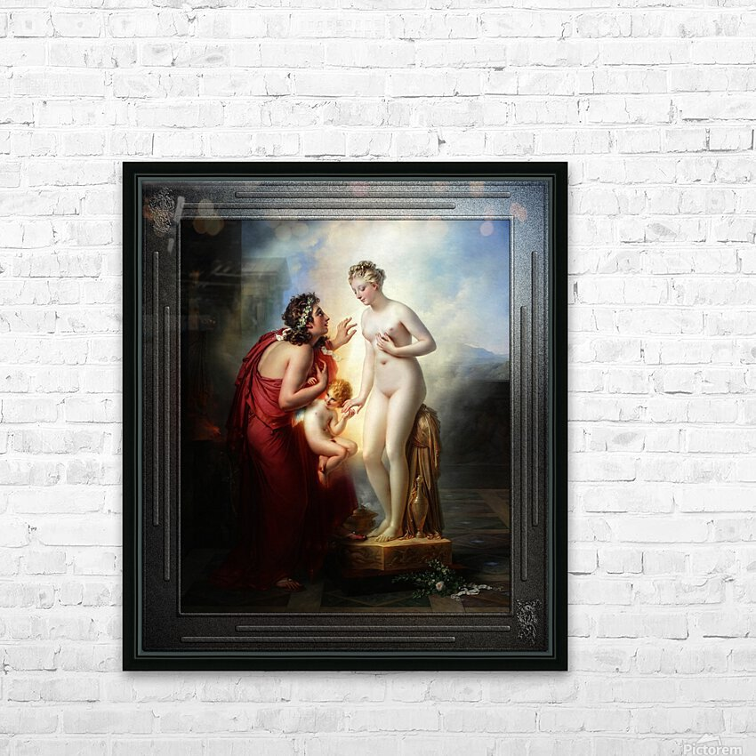 Pygmalion et Galatee byAnne-Louis Girodet-Trioson Classical Fine Art Xzendor7 Old Masters Reproductions HD Sublimation Metal print with Decorating Float Frame (BOX)