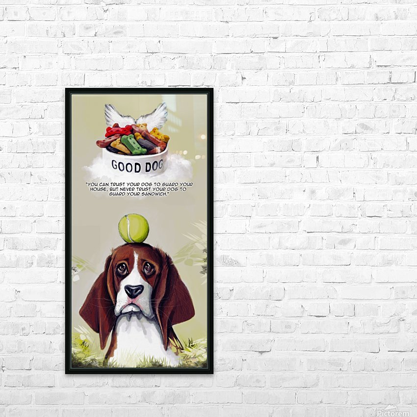 Beagle Quote HD Sublimation Metal print with Decorating Float Frame (BOX)