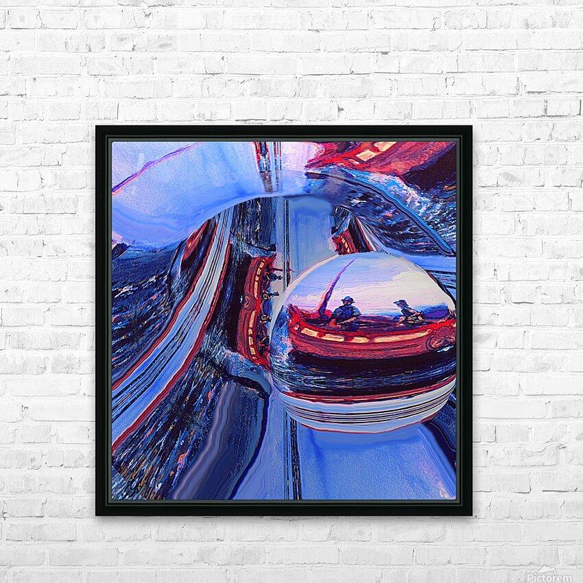 Romantic River Escape  HD Sublimation Metal print with Decorating Float Frame (BOX)