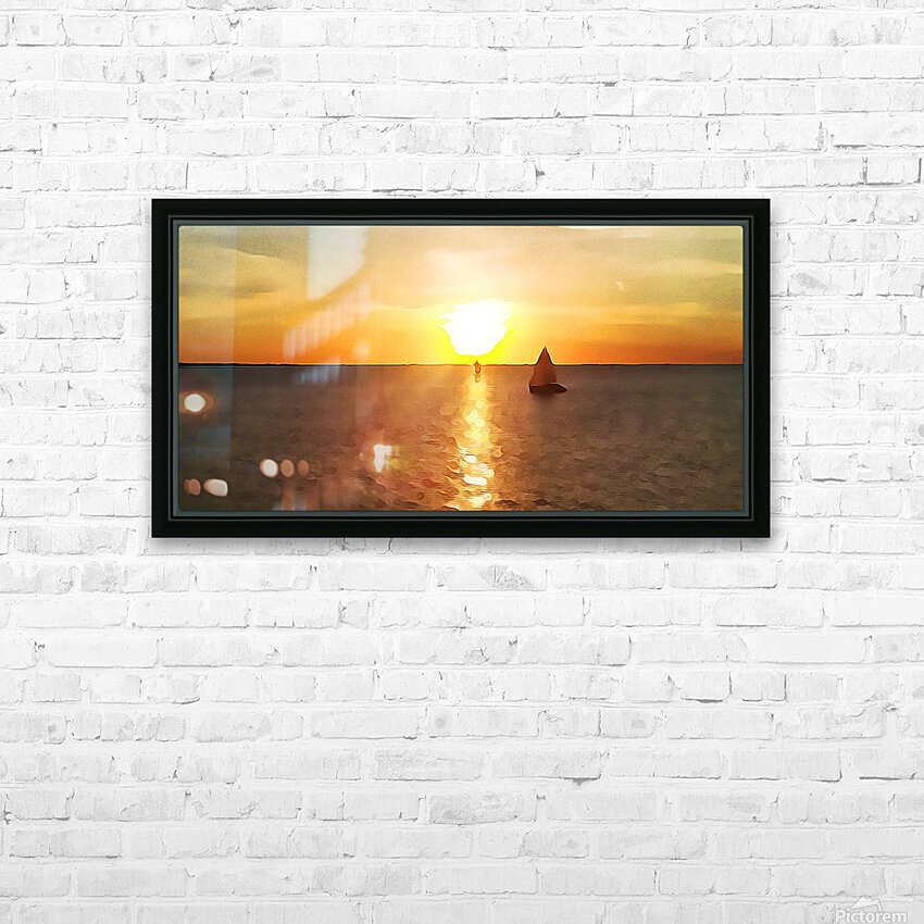 Pierce Anderson Sail Boats Art HD Sublimation Metal print with Decorating Float Frame (BOX)