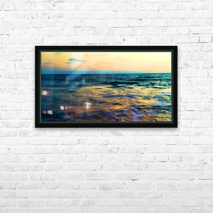 Manhattan Beach Beauty HD Sublimation Metal print with Decorating Float Frame (BOX)
