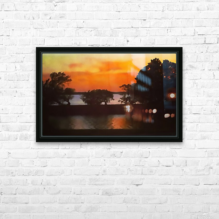 Tranquil Sunset HD Sublimation Metal print with Decorating Float Frame (BOX)