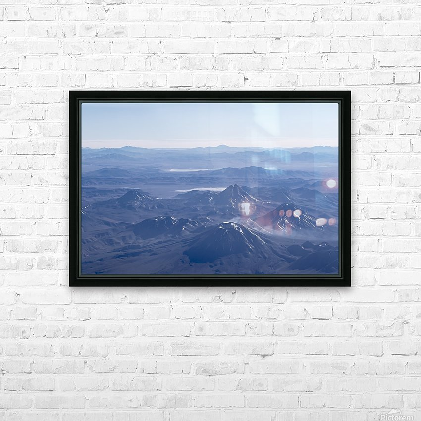 Window Plane View of Andes Mountains HD Sublimation Metal print with Decorating Float Frame (BOX)