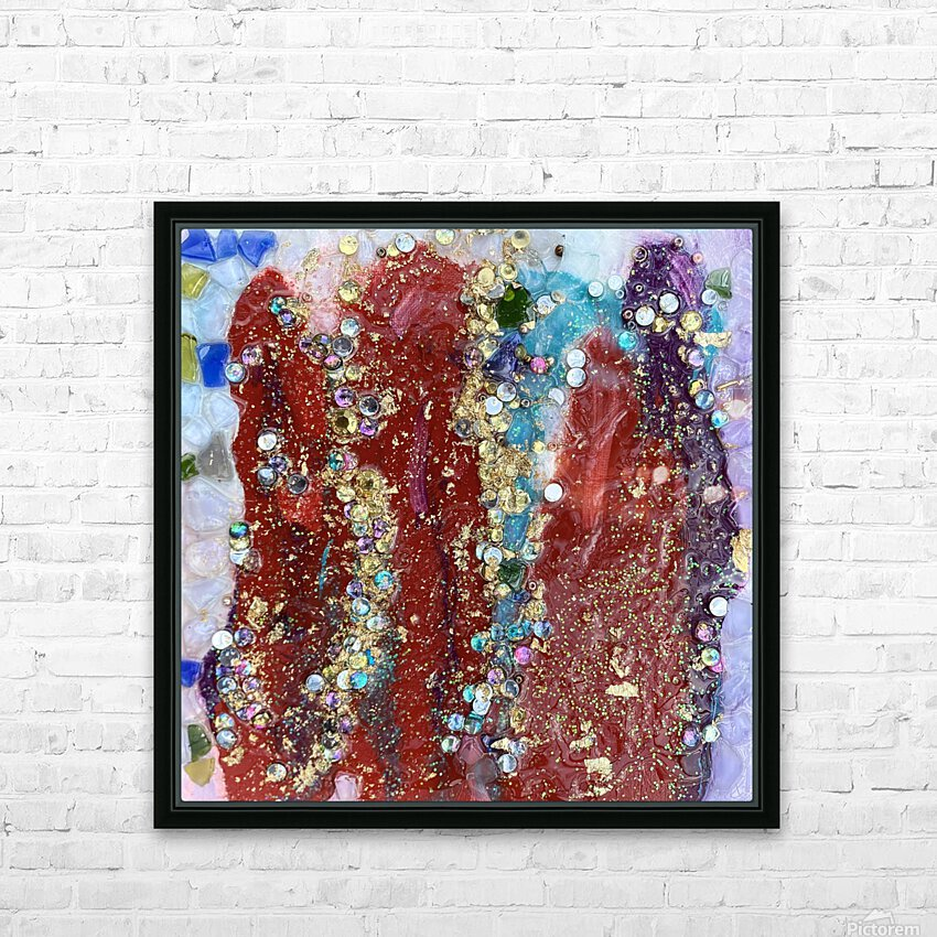Rained Confetti  HD Sublimation Metal print with Decorating Float Frame (BOX)