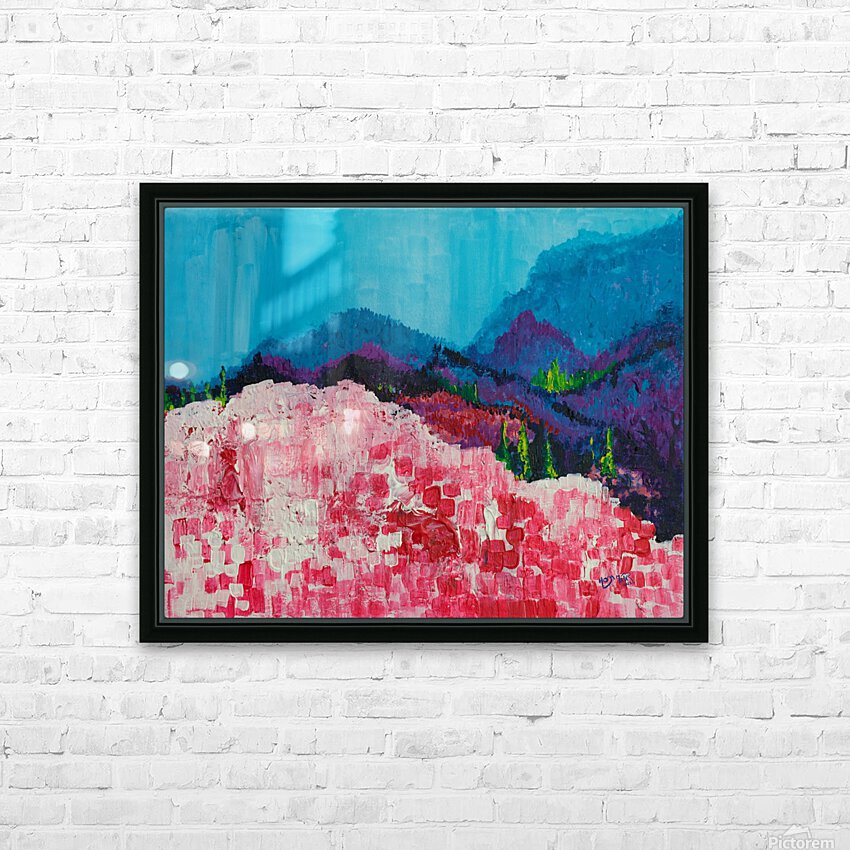Blue Mountains HD Sublimation Metal print with Decorating Float Frame (BOX)