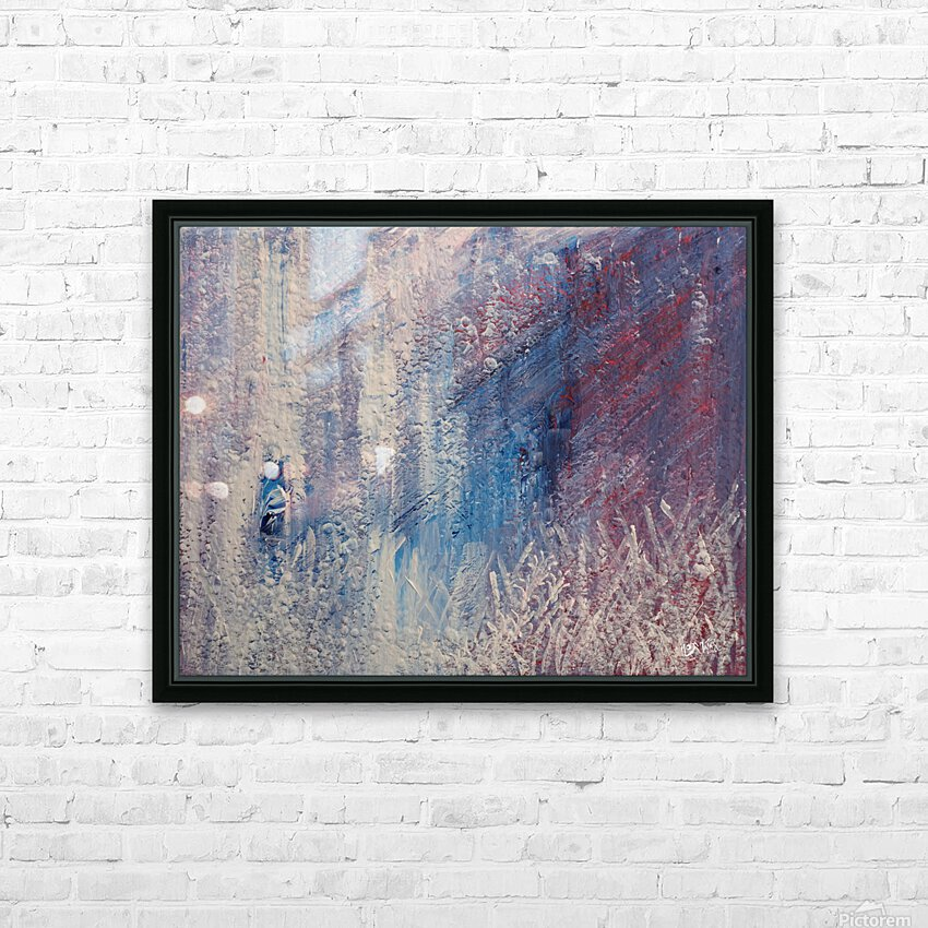 In a Hazy Place HD Sublimation Metal print with Decorating Float Frame (BOX)
