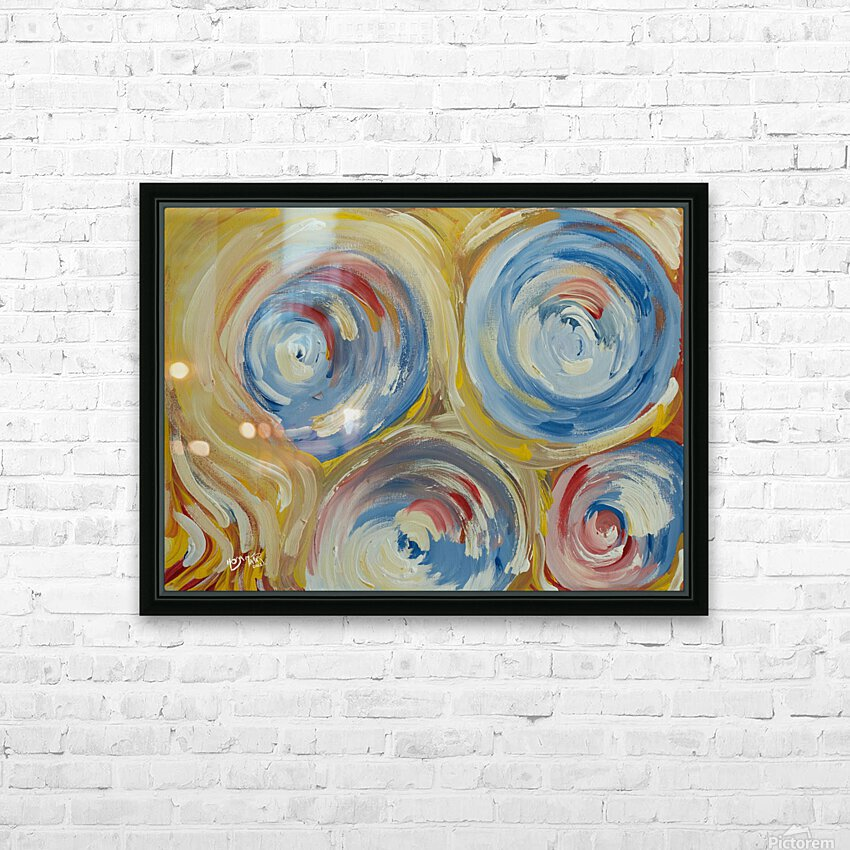 Swirl HD Sublimation Metal print with Decorating Float Frame (BOX)