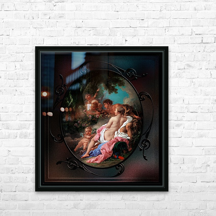 Angelica and Medoro by Francois Boucher Classical Fine Art Xzendor7 Old Masters Reproductions HD Sublimation Metal print with Decorating Float Frame (BOX)