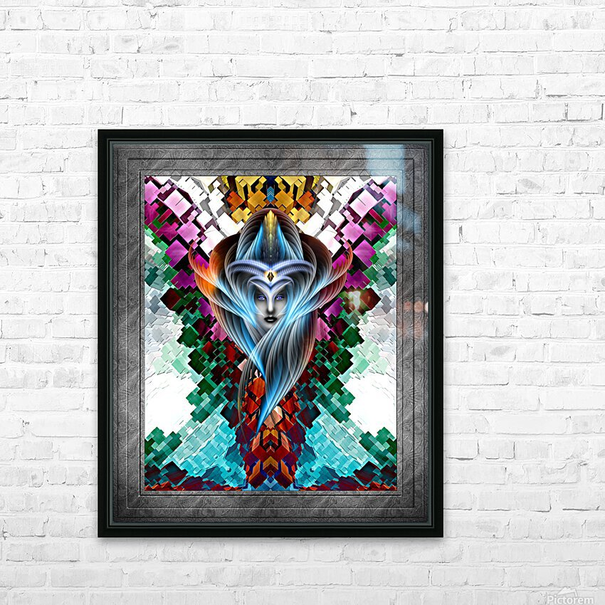 What Dreams Are Made Of GeomatCLR WQ FRAME Fractal Art Cuboid Portrait HD Sublimation Metal print with Decorating Float Frame (BOX)
