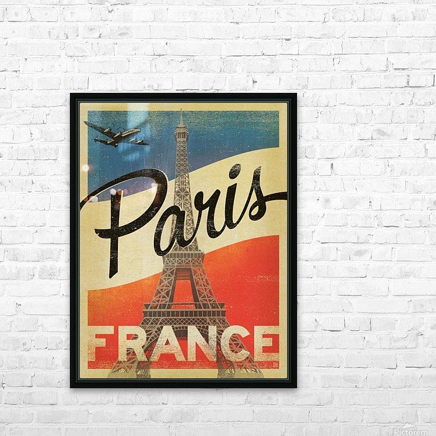 Paris France Vintage Poster HD Sublimation Metal print with Decorating Float Frame (BOX)