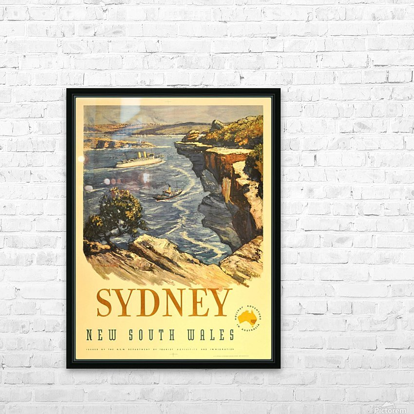 Sydney New South Wales HD Sublimation Metal print with Decorating Float Frame (BOX)