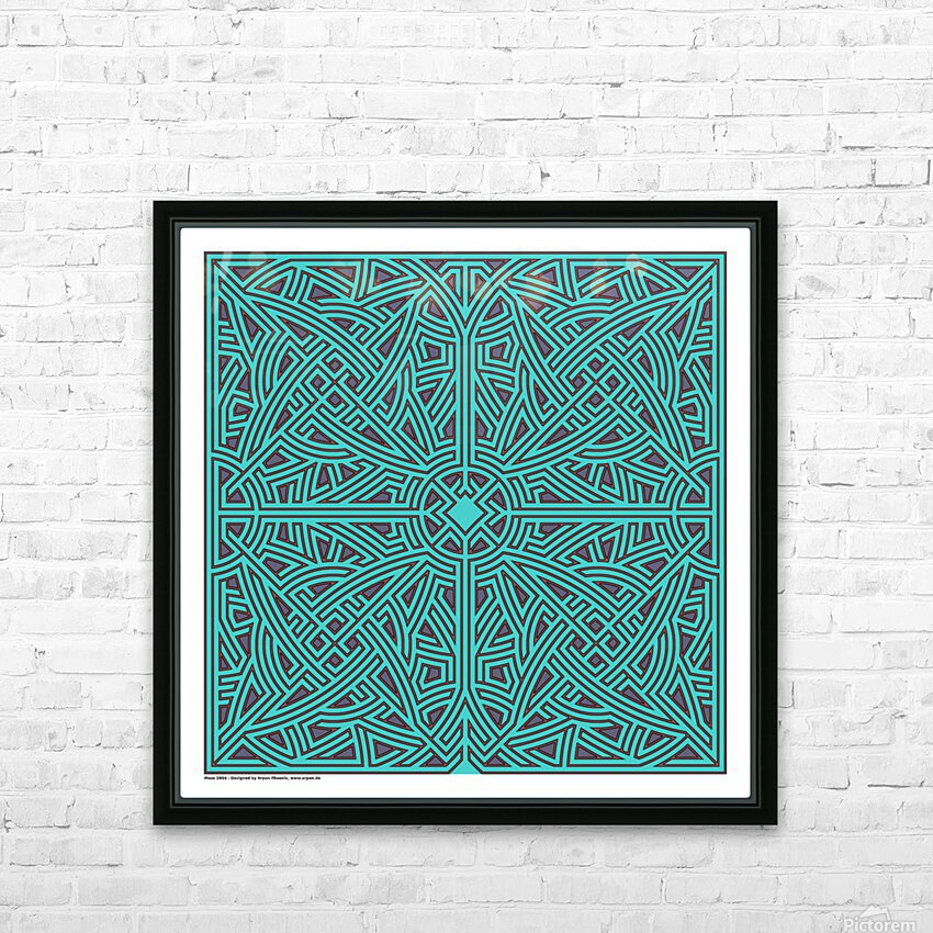 Maze 2896 HD Sublimation Metal print with Decorating Float Frame (BOX)