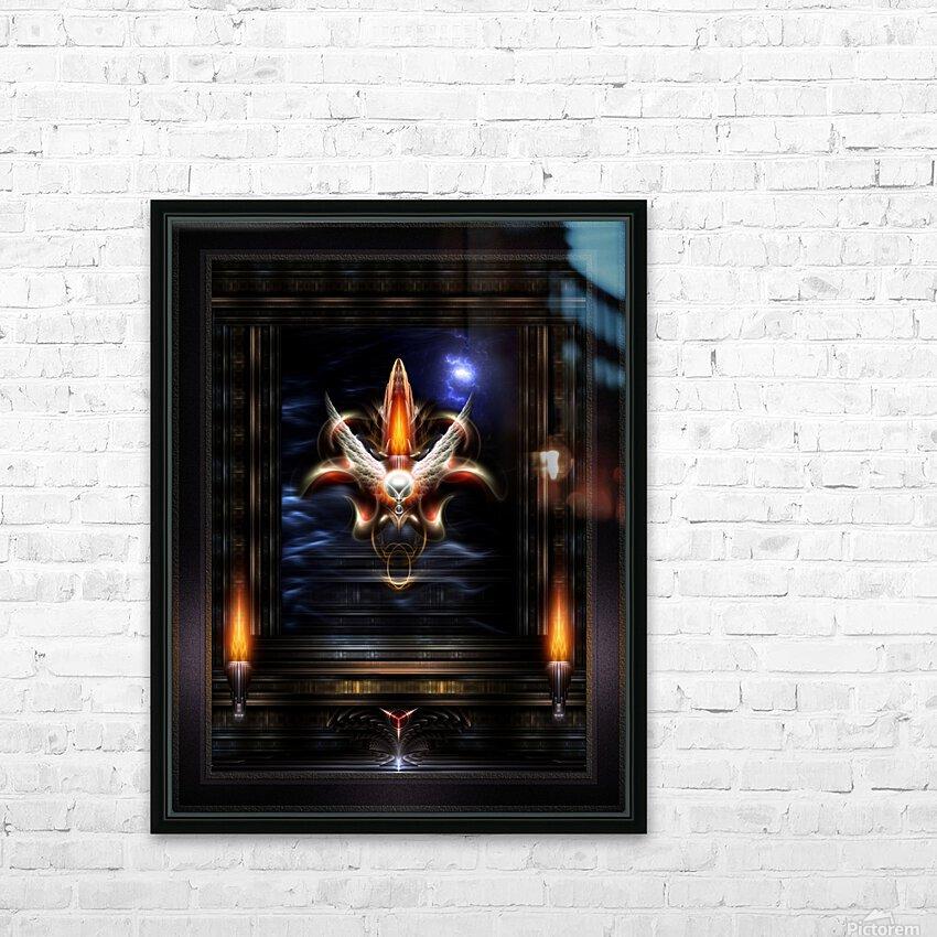 Akrellian Torch Fire Portrait Fractal Art Composition by Xzendor7 HD Sublimation Metal print with Decorating Float Frame (BOX)