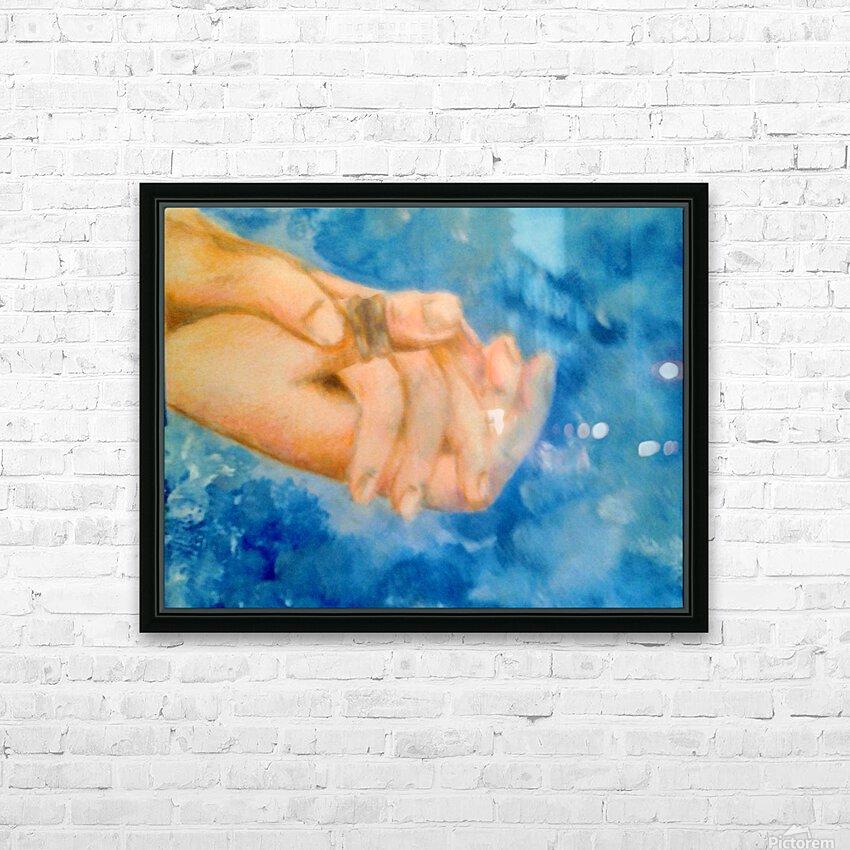 Hoping Hands HD sublimation métal imprimé avec décoration flotteur cadre (boîte)