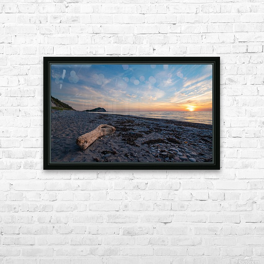 Seaside Sunset HD Sublimation Metal print with Decorating Float Frame (BOX)