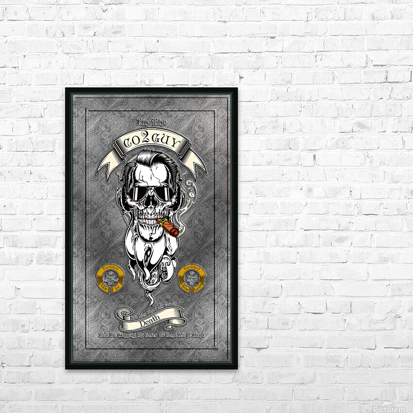 CO2 Guy Certified Real Global Climate Menace HD Sublimation Metal print with Decorating Float Frame (BOX)