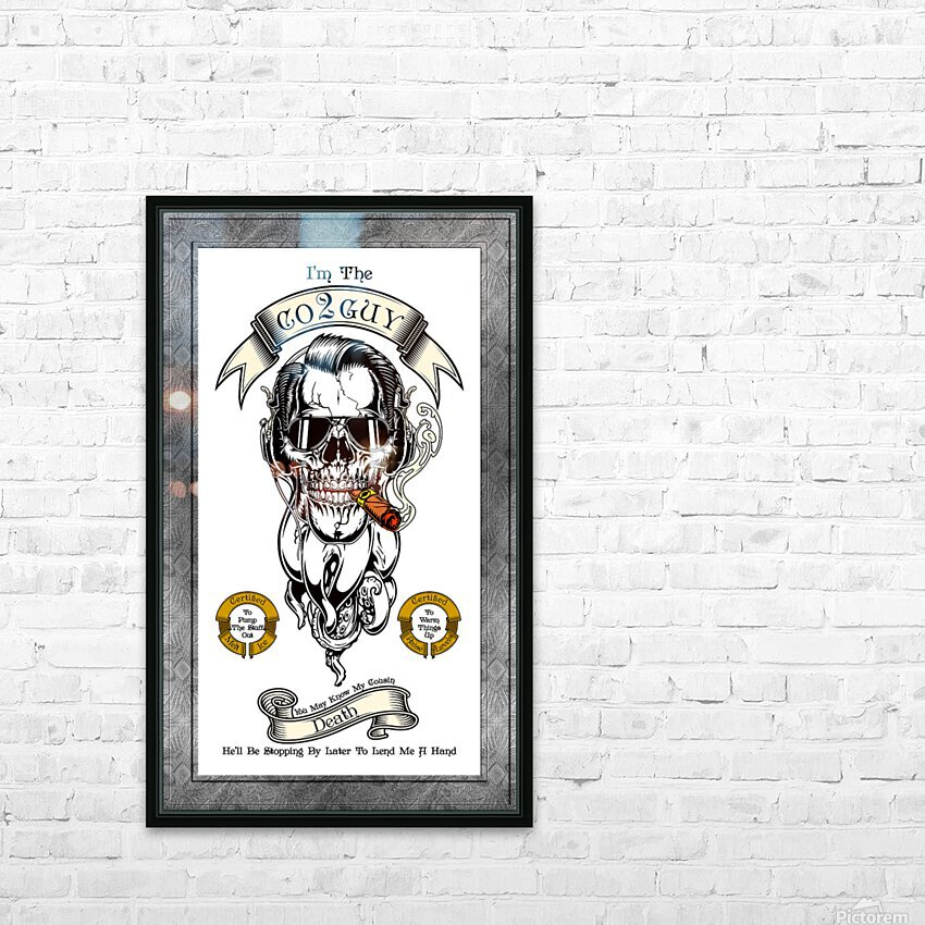 CO2 Guy Certified Real Global Climate Menace WHT HD Sublimation Metal print with Decorating Float Frame (BOX)