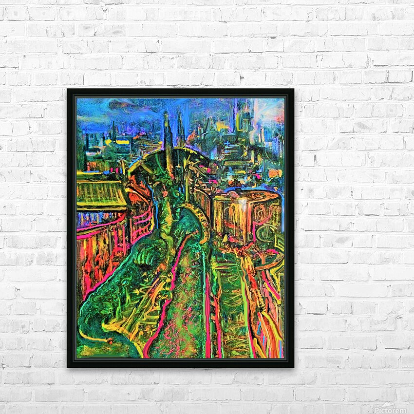 Vegetarian City Art Print HD Sublimation Metal print with Decorating Float Frame (BOX)