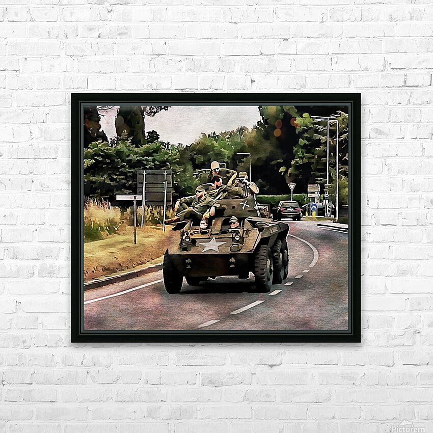 Six Wheeled Armoured Vehicle HD Sublimation Metal print with Decorating Float Frame (BOX)