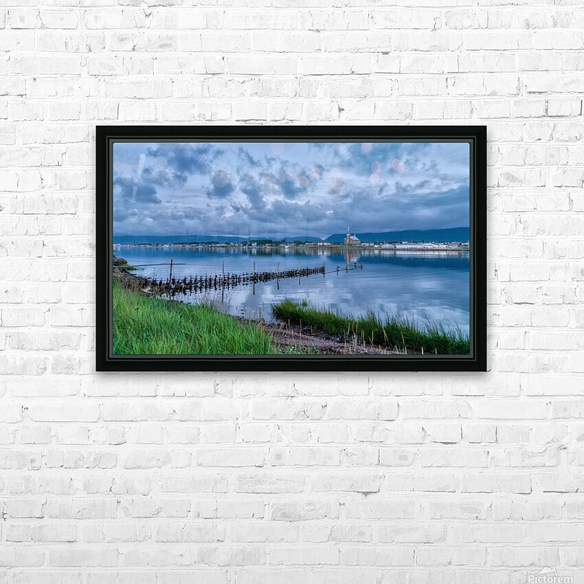 Cheticamp Harbour HD Sublimation Metal print with Decorating Float Frame (BOX)