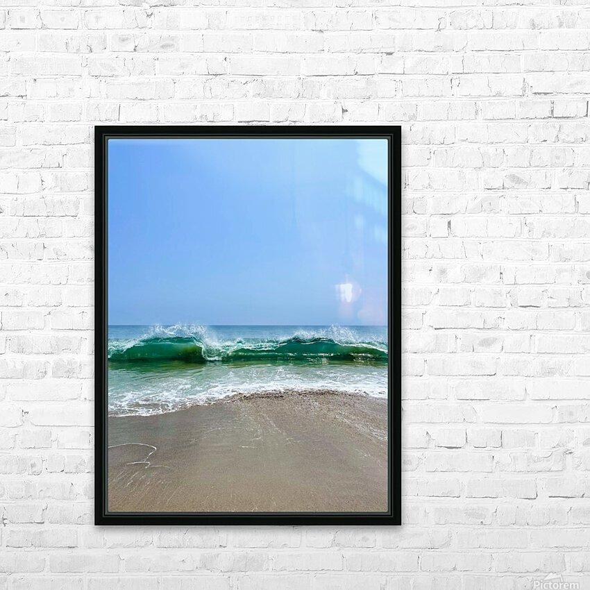 Crashing Waves - Malibu CA HD Sublimation Metal print with Decorating Float Frame (BOX)