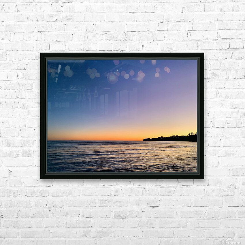 Sunset Moon - Malibu CA HD Sublimation Metal print with Decorating Float Frame (BOX)