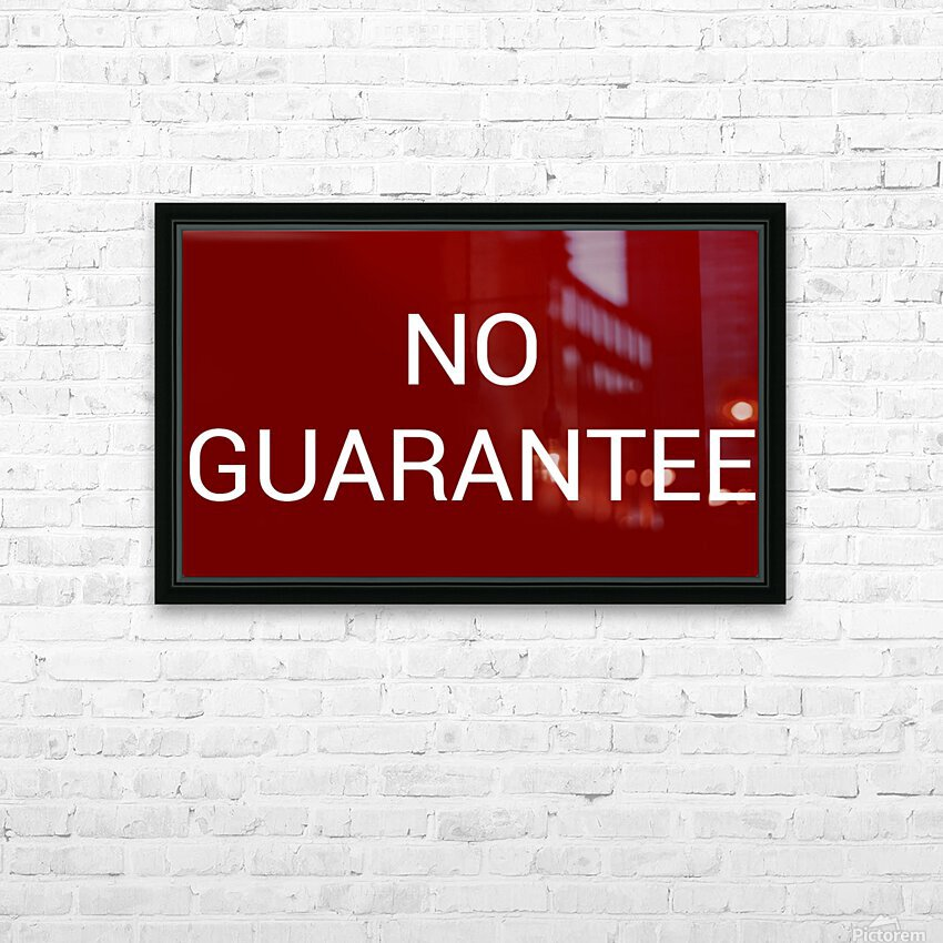 NO GUARANTEE blood red by Lenie Blue HD Sublimation Metal print with Decorating Float Frame (BOX)
