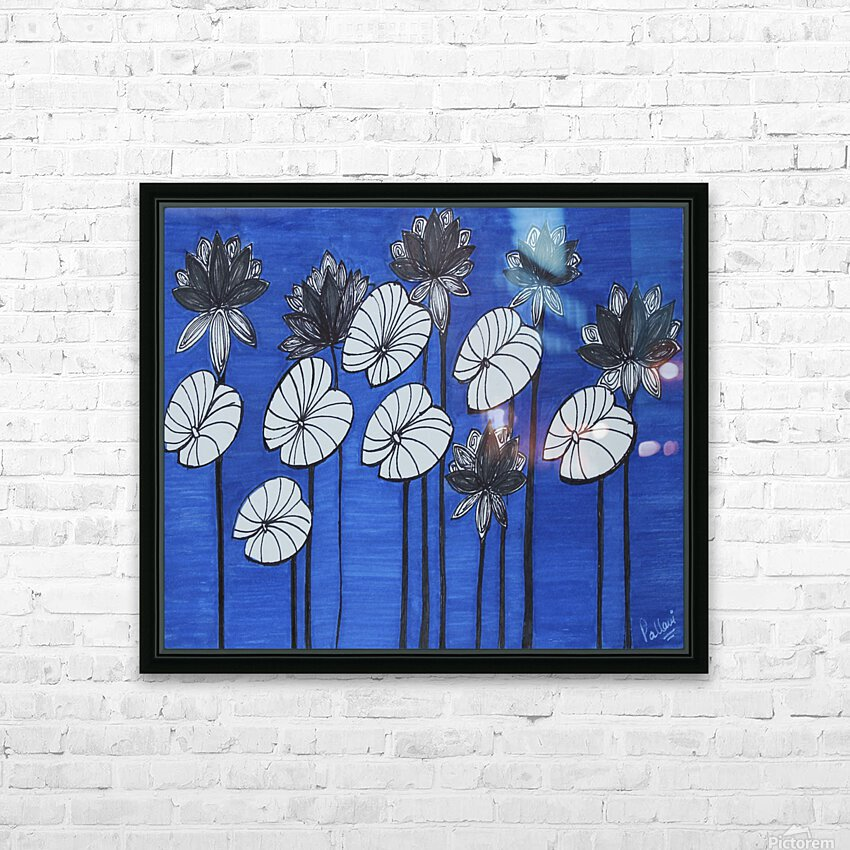 Black Lotus HD Sublimation Metal print with Decorating Float Frame (BOX)