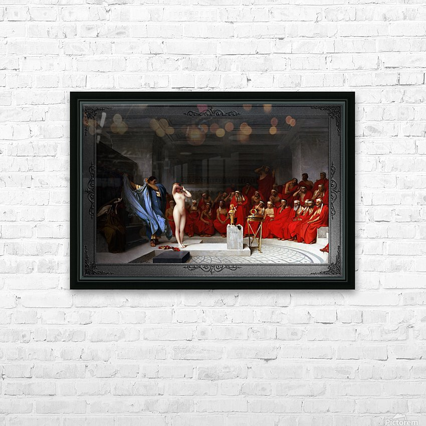 Phryne Revealed Before The Areopagus by Jean-Leon Gerome Classical Fine Art Xzendor7 Old Masters Reproductions HD Sublimation Metal print with Decorating Float Frame (BOX)