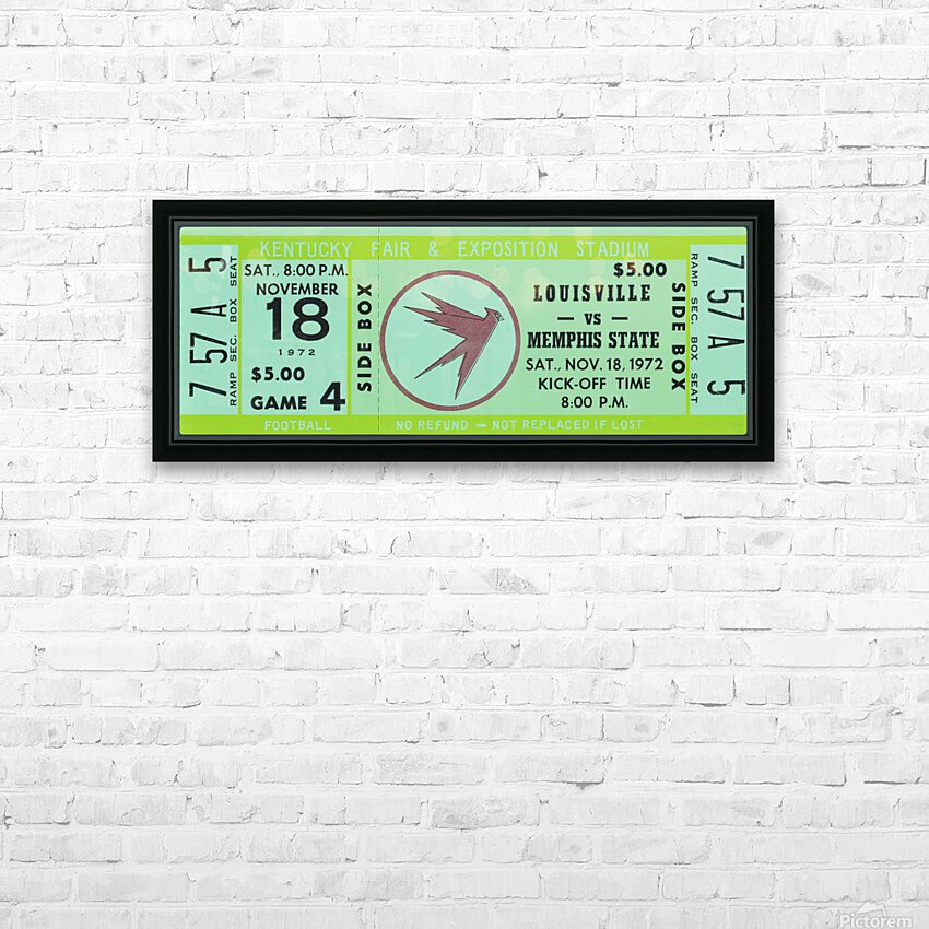 1972 Louisville Cardinals vs. Memphis State Tigers HD Sublimation Metal print with Decorating Float Frame (BOX)