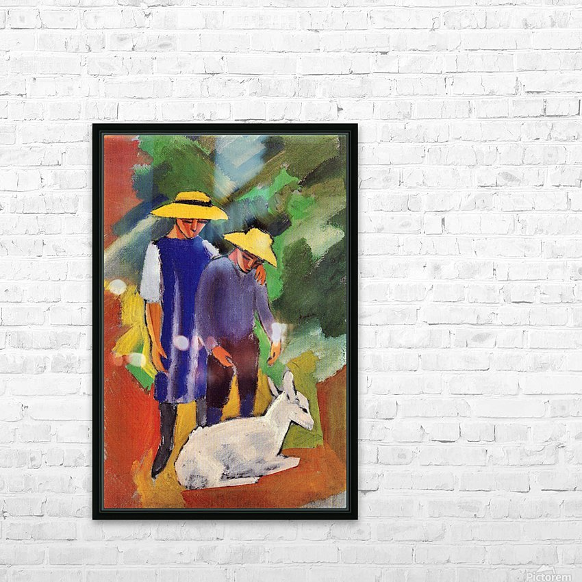 Children with goat by August Macke HD Sublimation Metal print with Decorating Float Frame (BOX)