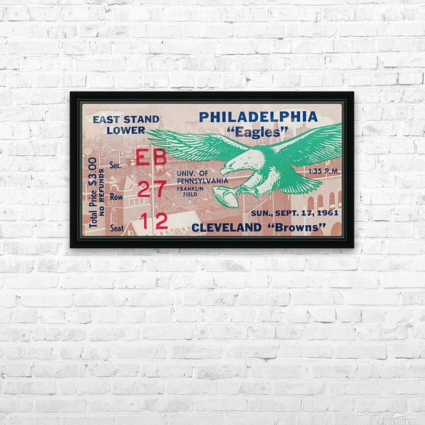 1961 Philadelphia Eagles vs. Cleveland Browns  HD Sublimation Metal print with Decorating Float Frame (BOX)