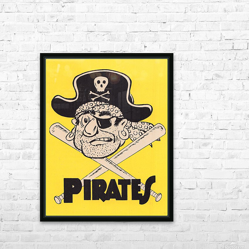 Vintage Sixties Pittsburgh Pirates Art HD Sublimation Metal print with Decorating Float Frame (BOX)