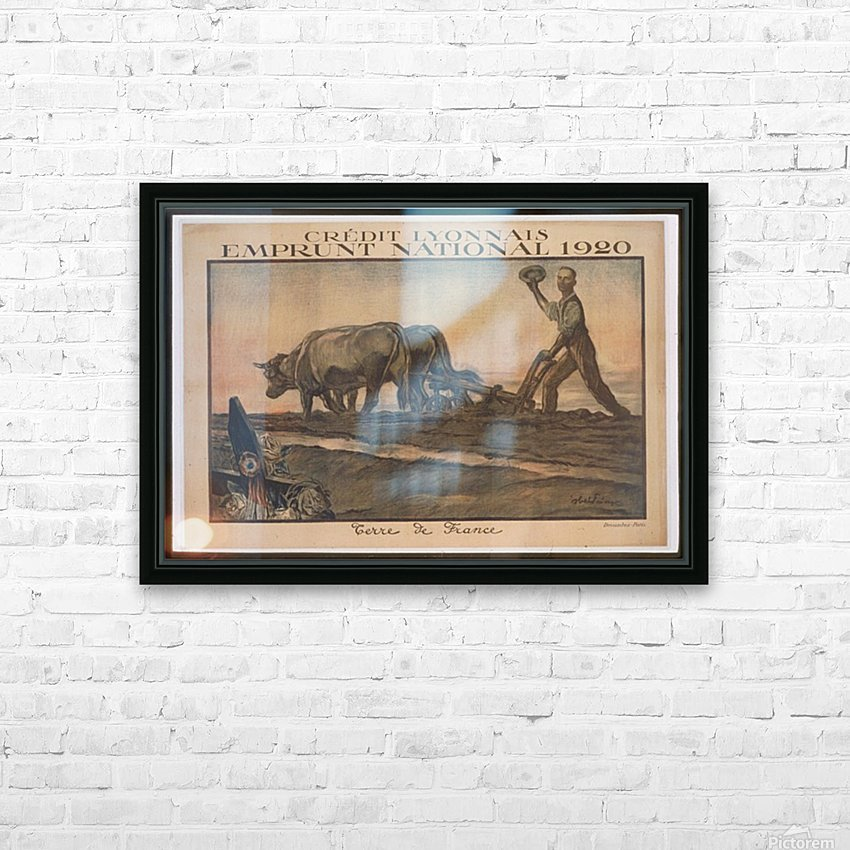 Vintage---Credit-Lyonnais HD Sublimation Metal print with Decorating Float Frame (BOX)