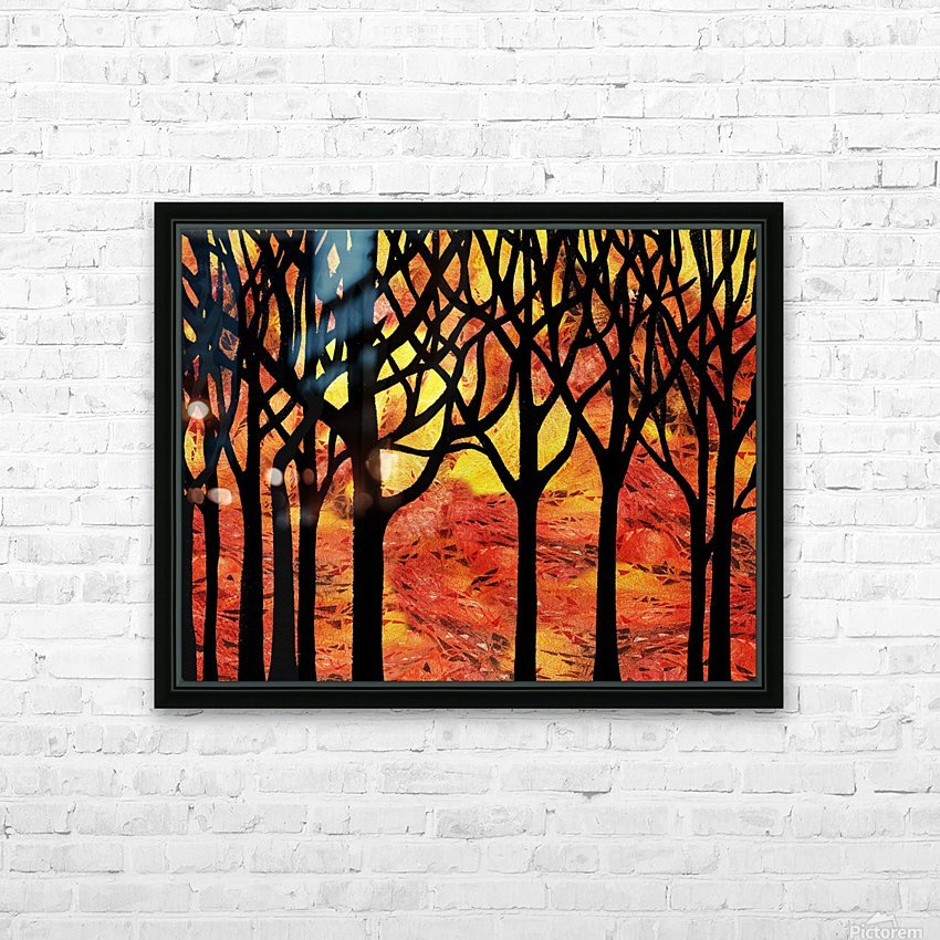 Abstract Fall Forest HD Sublimation Metal print with Decorating Float Frame (BOX)