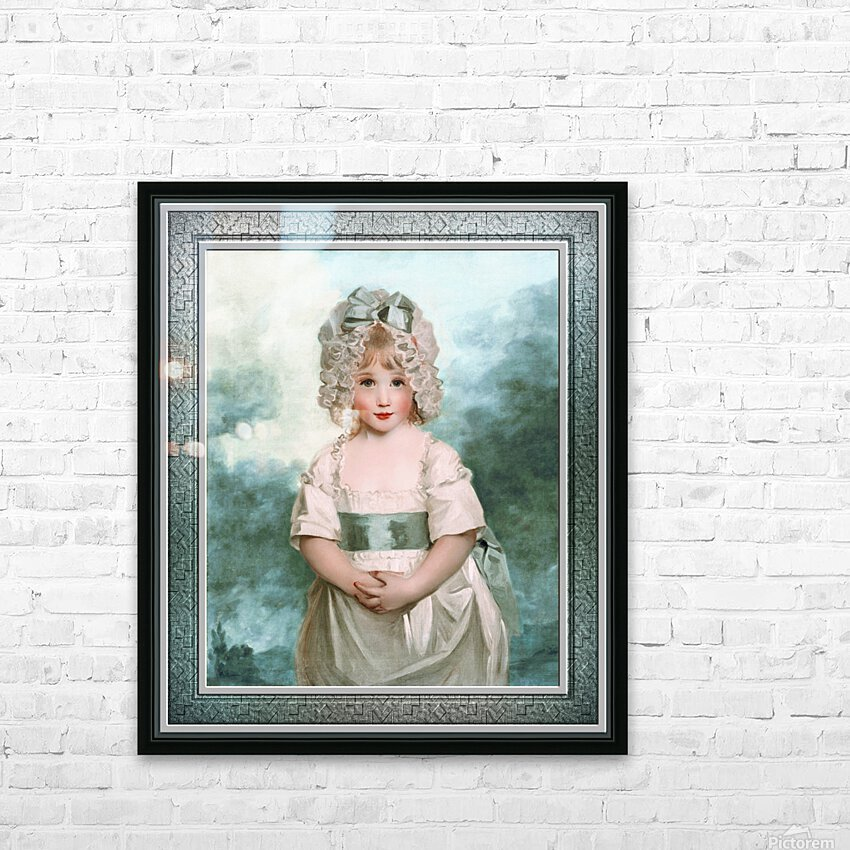 Miss Charlotte Papendick as a Child by John Hoppner Classical Art Xzendor7 Old Masters Reproductions HD Sublimation Metal print with Decorating Float Frame (BOX)