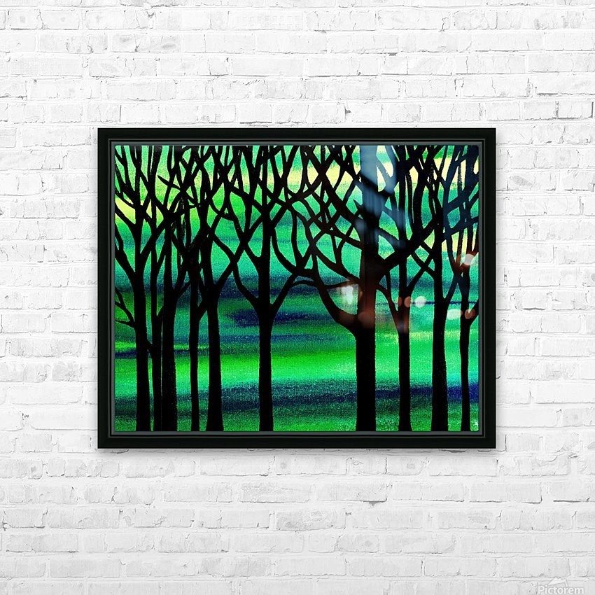 Abstract Spring Forest HD Sublimation Metal print with Decorating Float Frame (BOX)