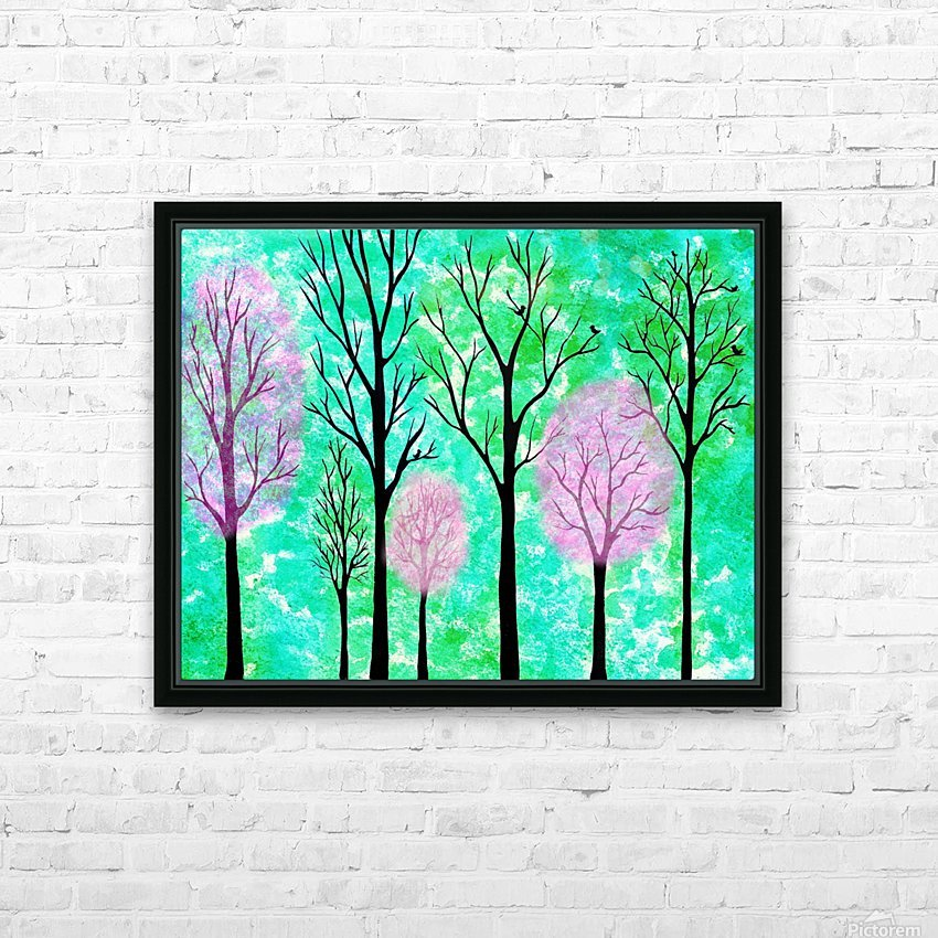 Spring Forest HD Sublimation Metal print with Decorating Float Frame (BOX)